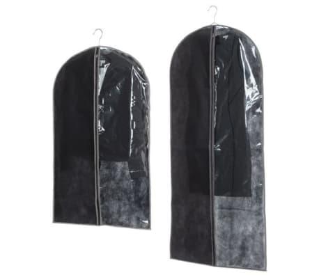 2 Housses pour costume - 135 x 60 et 100 x 60 cm - Noir et taupe[1/1]
