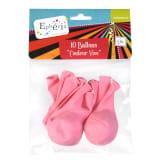 10 Ballons gonflables Couleur Vive - Rose