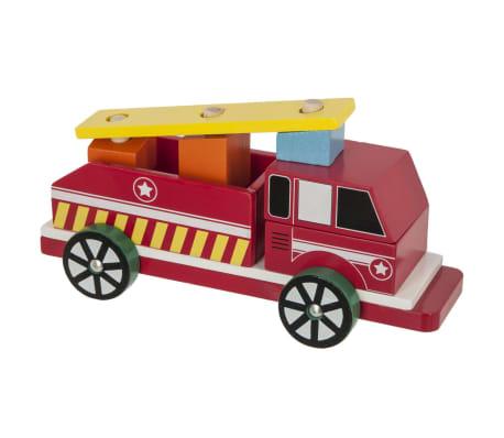 Camion pompier en bois - Rouge[1/1]