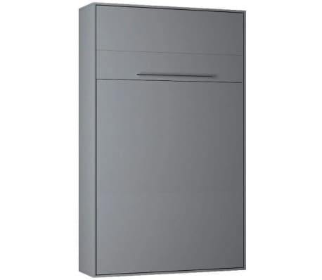 Armoire lit escamotable KOMPACT Ouverture assistée, coloris gris mat