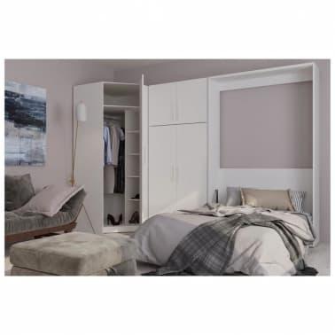Composition armoire lit escamotable SMART-V2 blanc mat Couchage 140 x[1/7]