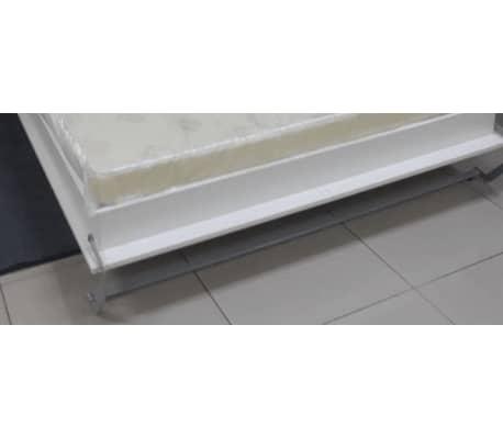 Composition armoire lit escamotable SMART-V2 blanc mat Couchage 140 x[6/7]