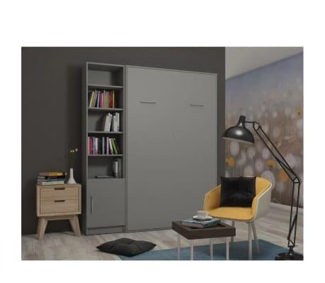 Composition armoire lit escamotable SMART-V2 gris mat Couchage 160 x