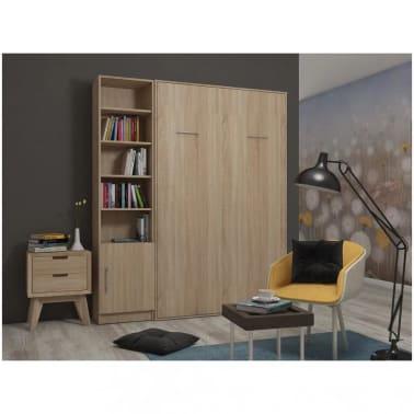 Composition armoire lit escamotable SMART-V2 chêne naturel Couchage 1[2/7]