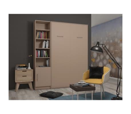 Composition armoire lit escamotable SMART-V2 Taupe mat Couchage 160 x
