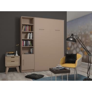 Composition armoire lit escamotable SMART-V2 Taupe mat Couchage 160 x[1/7]