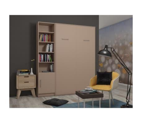 Composition armoire lit escamotable SMART-V2 Taupe mat Couchage 160 x[2/7]
