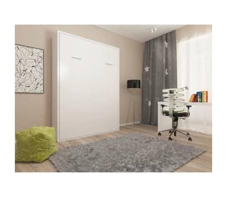 Armoire lit escamotable SMART-V2 blanc mat couchage 140*200 cm.[4/7]