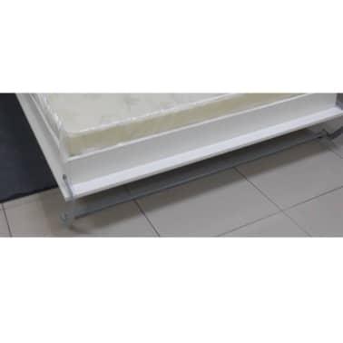 Armoire lit escamotable SMART-V2 blanc mat couchage 140*200 cm.[7/7]