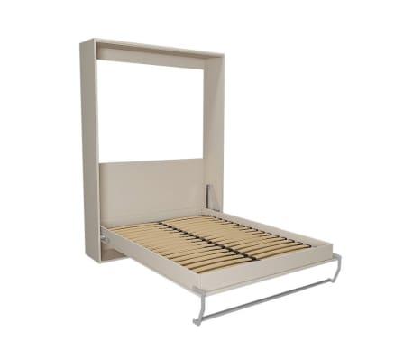 Armoire lit escamotable SMART-V2 taupe mat 160*200 cm.[3/7]