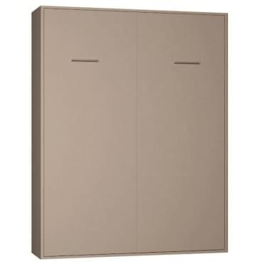 Armoire lit escamotable SMART-V2 taupe mat 160*200 cm.[2/7]