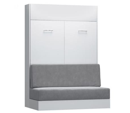 Armoire lit escamotable DYNAMO SOFA canapé intégré blanc mat et micro[1/7]