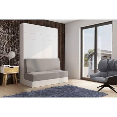 Armoire lit escamotable DYNAMO SOFA canapé intégré blanc mat et micro[4/7]