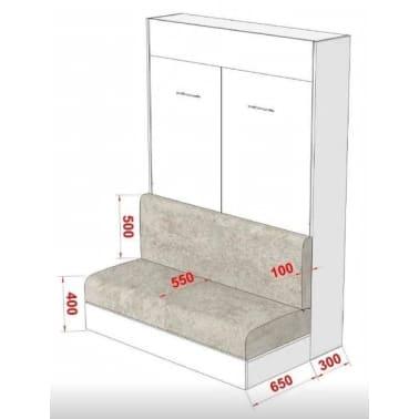 Armoire lit escamotable DYNAMO SOFA canapé intégré blanc mat et micro[5/7]