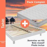 Altobuy - Tahiti - Pack Matelas + NeoKit Blanc 160x200