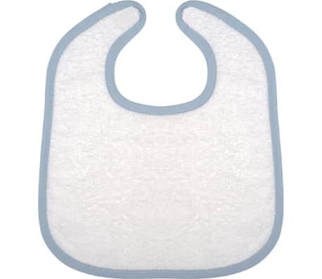 bavoir éponge bébé - K833 - blanc et bleu[2/4]
