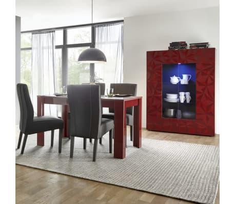 Vaisselier avec éclairage LED design rouge laqué NINO 3[4/5]