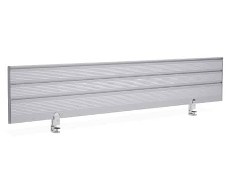 Ecran de séparation pour bureau gris - 140 x 30 x 1,8 cm[1/5]