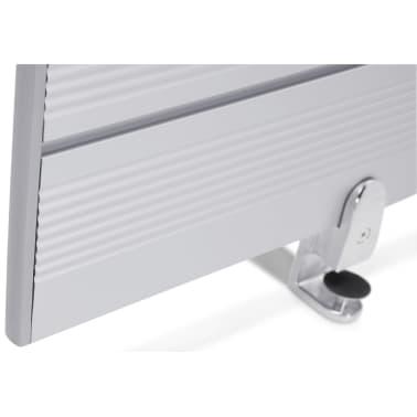 Ecran de séparation pour bureau gris - 140 x 30 x 1,8 cm[4/5]