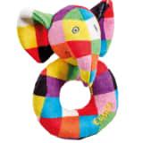 Anneau hochet bébé en polyester multicolore - 6.5 x 8.5 x 12 cm