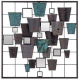 Déco murale formes géométriques et miroirs - L.50 x l.3 x H.50 cm
