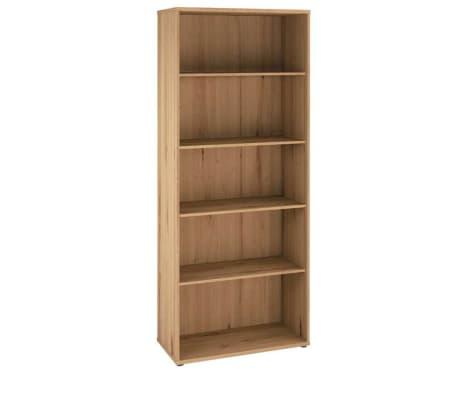 Commode de bureau coloris artisan chêne en bois - 78 x 200 x 35 cm