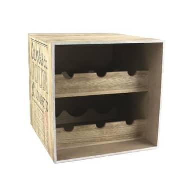 Cave à vin en bois - 6 Bouteilles - Cuvée du jour[1/2]