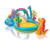 Parc de jeu gonflable Dinoland- L. 333 x l. 229 cm - Multicolore