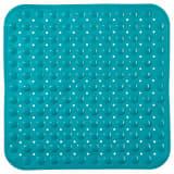Tapis anti-dérapant fond de douche Colorama - L. 54 x l. 54 cm - Bleu