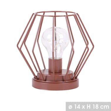 Lampe LED design Modern Spirit - H. 18 cm - Marron cuivré[1/1]
