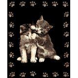 Tableau Scraper à gratter Doré 2 chats joueurs - Le p'tit créateur