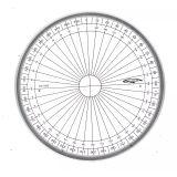 Rapporteur cercle entier grades Ø 10 cm - Graphoplex