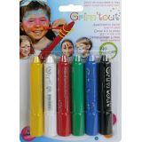 Crayons de maquillage enfant Coul. basiques 6 pièces - Grim'tout