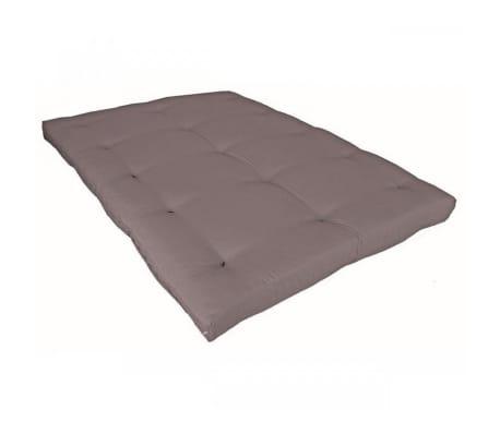 Matelas futon taupe en coton 140x200[2/5]