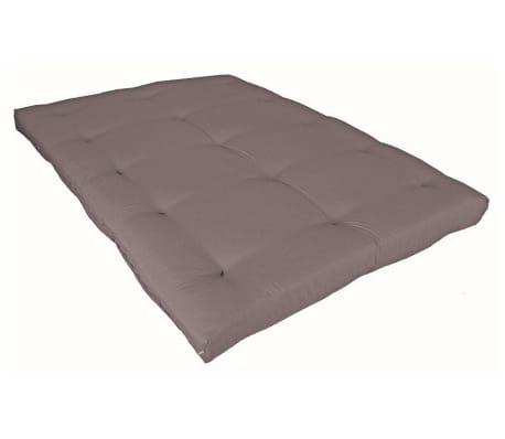 Matelas futon taupe en coton 140x200[3/5]