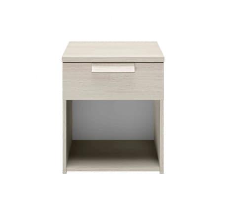 Chevet 1 tiroir imitation bois clair - CH5028