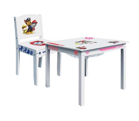 Acheter paw patrol ensemble de table et de chaise 2 pcs blanc bois room268051 pas cher - Ensemble table et chaise blanc ...