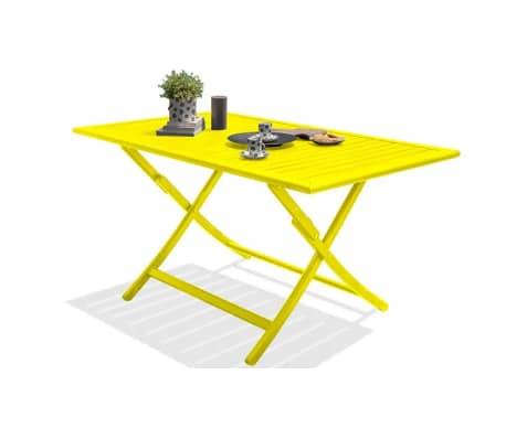 Salon jardin pliant jaune 4 places Marius[3/8]