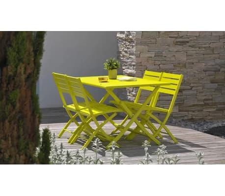 Salon jardin pliant jaune 4 places Marius[6/8]