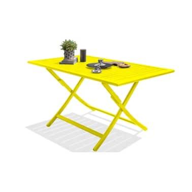 Salon jardin pliant jaune 4 places Marius[8/8]