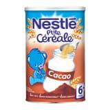 Nestlé P'tit Céréale Cacao (+ 6 mois) Format 400g (lot de 6)