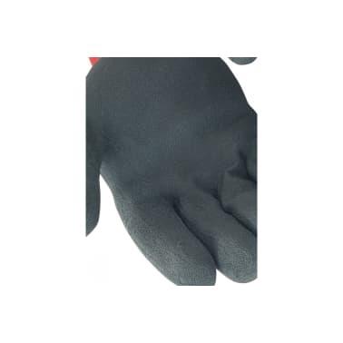 Gant manutention enduit latex SINGER gris nylon rouge Taille 9 suppor[2/3]