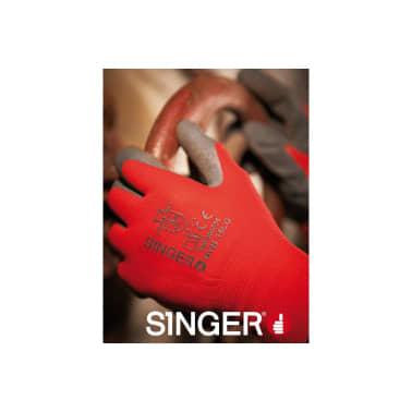 Gant manutention enduit latex SINGER gris nylon rouge Taille 9 suppor[3/3]