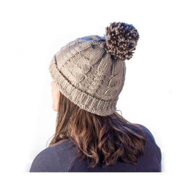 Acheter Bonnet tricot avec pompon en polyacrylique - Bonnet chaud d ... 55a1658f650