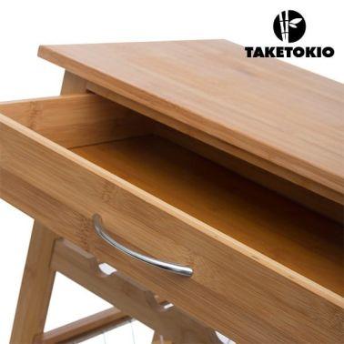 Table roulante en Bambou - Desserte de cuisine[7/7]
