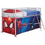 Habillage pour lit surélevé bleu/rouge motif Spider-Man