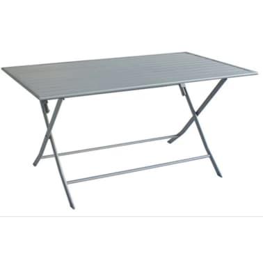 Table de jardin pliante en aluminium coloris silver mat[1/1]