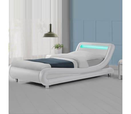 Lit led design Julio - Blanc - 90x190