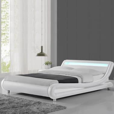 Lit led design Julio - Blanc - 180x200[1/4]