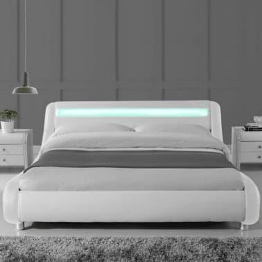 Lit led design Julio - Blanc - 180x200[2/4]